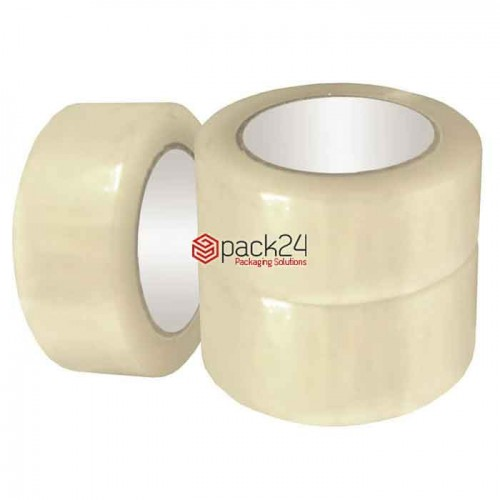 Transparante PP-tape 50mm x 66m - 6 rollen